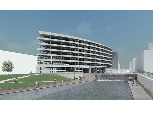 Exterior Render: Yards Park Offices