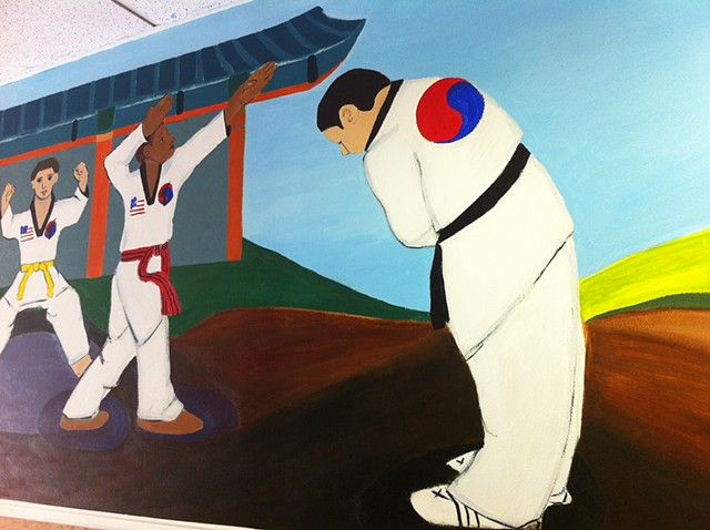 Mural for An's Tae Kwon Do school, 2013