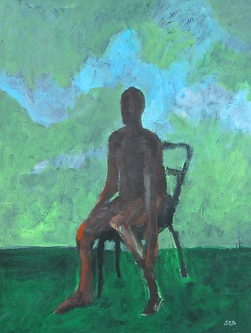 Figure and blue green