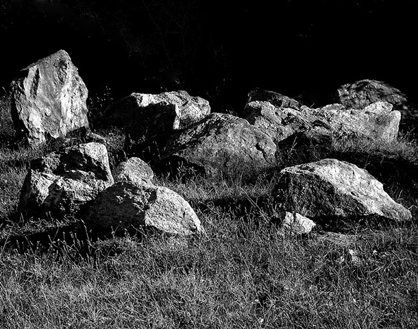 """The Gathering""  Something about the way the rocks were laid in the field intrigued me. I wanted to capture the beauty of this abstract art by an unknown villager."