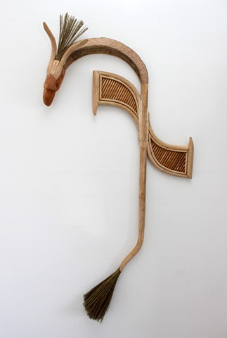 Storm Bird Veðrfölnir the reimagined tale sculpture timber