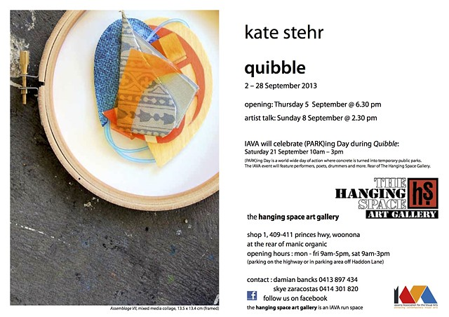 'Quibble' Solo Exhibition - September 2013