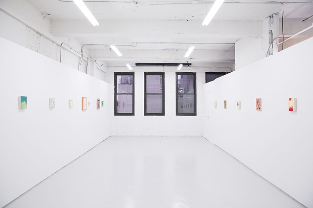 Install image of Intimates, a two person exhibition with Max Manning at Skylab Gallery.