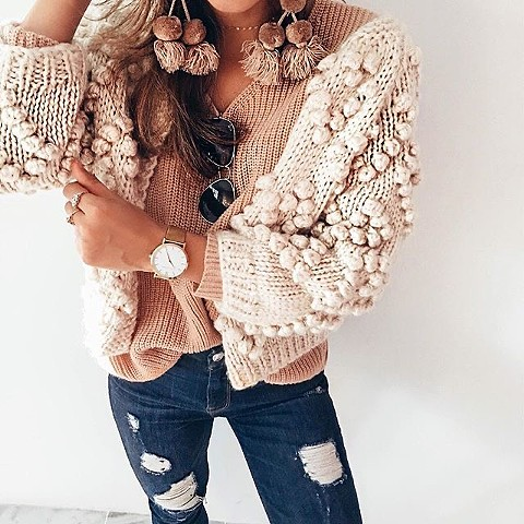 Fall'19 - pom pom sweater  $119