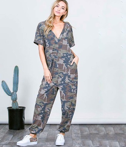 Fall'18 - camo jumpsuit