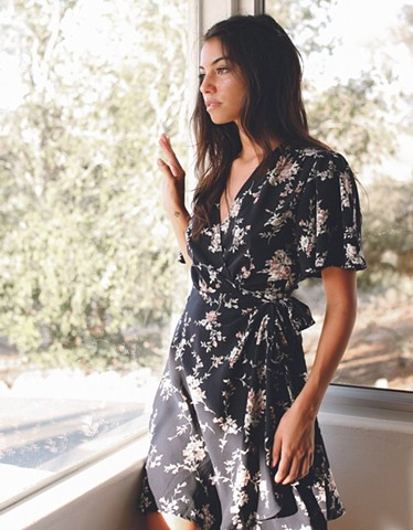 Fall'18 - floral wrap dress