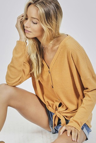 Fall'18 - mellow yellow no-brainer top