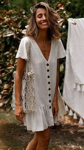Summer'19 - white linen dress