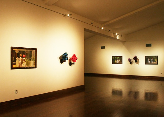 Tignon Exhibition View at South Dallas Cultural Center, Dallas, Texas.