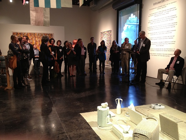Opening Night with remarks from CCA President Stephen Beal and Barclay Simpson (seated on right)