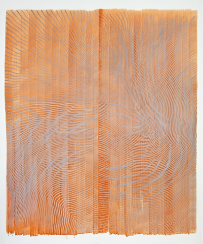 "Untitled (2012) Linn Meyers Ink and pencil on Mylar 100""x84"""