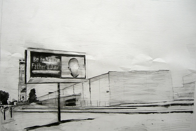 Carl Auge, graphite on paper