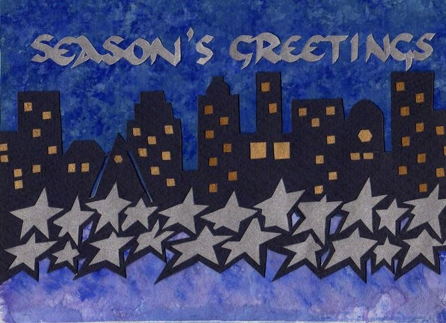 Seasons Greetings Cityscape