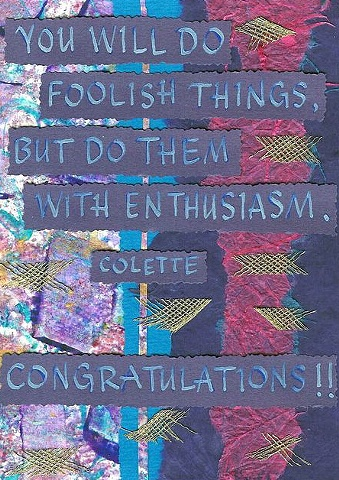 Congratulations; Colette - Foolish Things