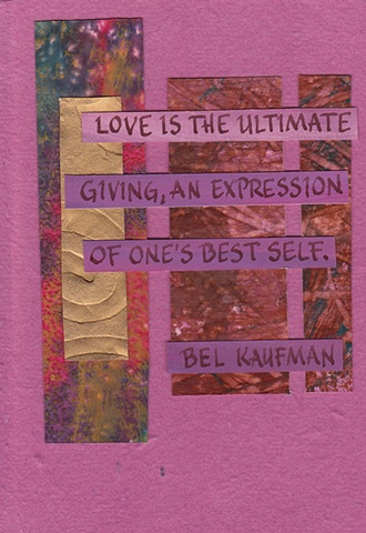 Bel Kaufman - One's Best Self