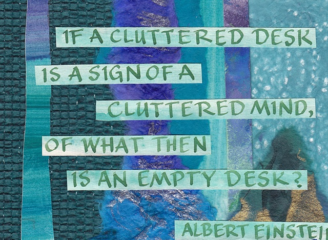 Einstein - Cluttered Desk