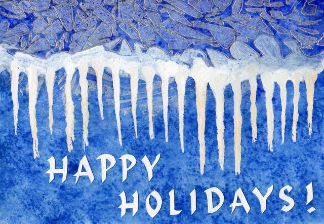 Happy Holidays - Icicles