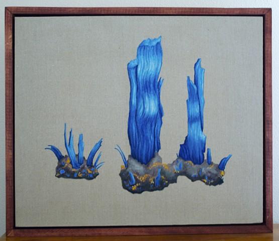oil painting Chalcanthite on linen, housman poem