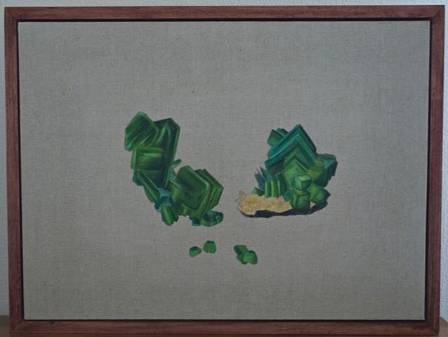 torbernite oil on linen painting, anne stevenson poem