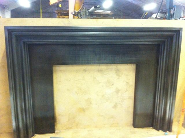 Zinc fireplace surround