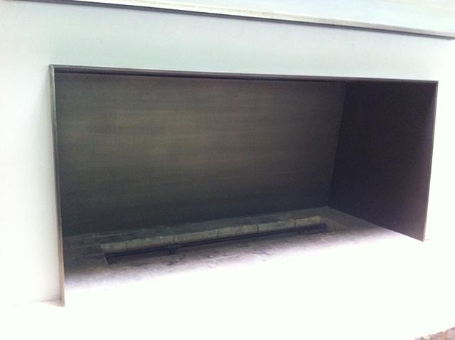 Bronze fireplace insert