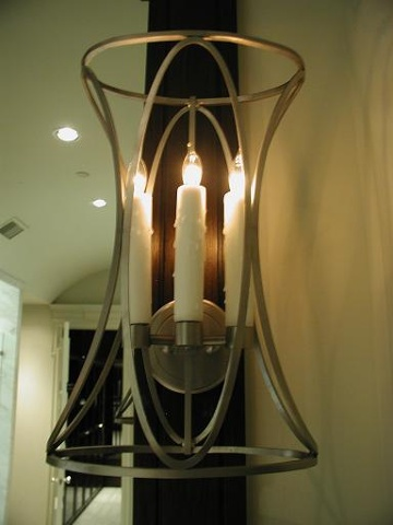 Stainless sconce