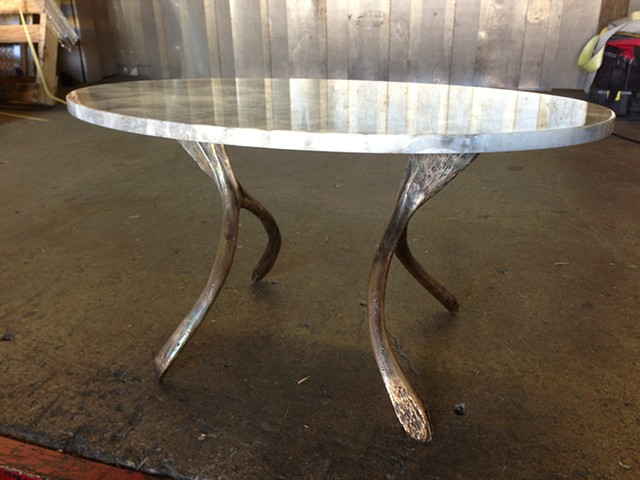Cast Bronze Wishbone Side Table