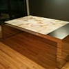 Polished Nickel and Onyx Dining Table