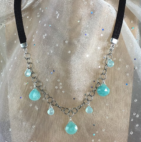 amazonite and chalcedony necklace