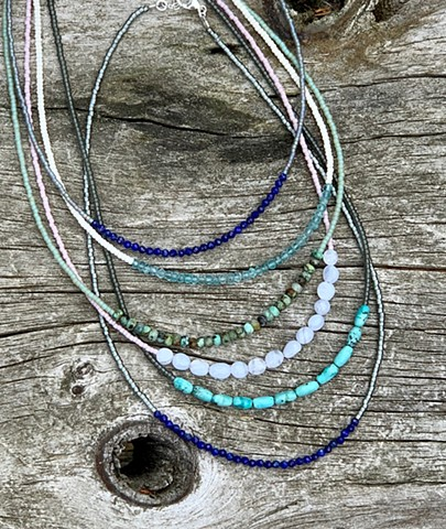 gemstone strand necklace.