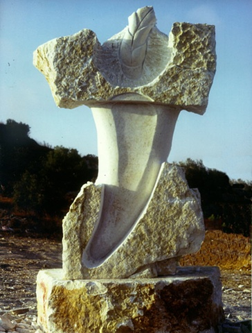 A lime stone carving located in Israel