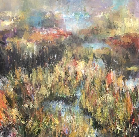 THE GRASSES ON THE WATERS EDGE-    SOLD