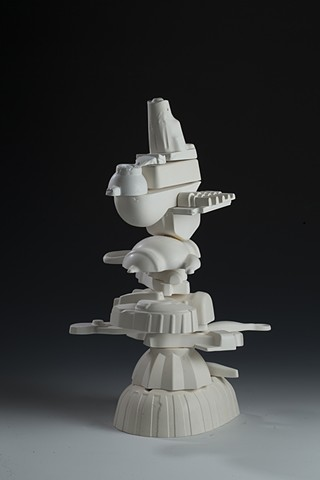 sculpture, plaster, stacking, consumerism