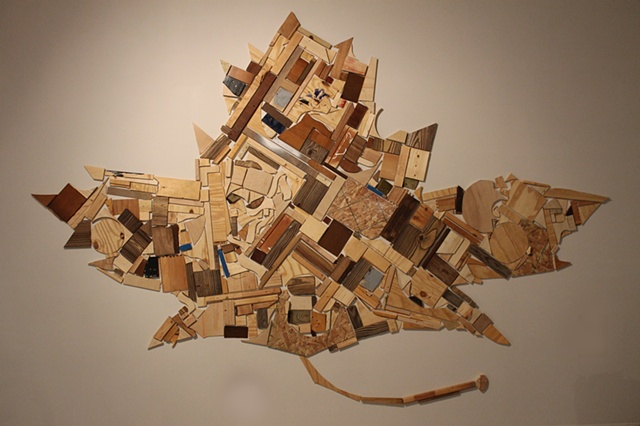 wood sculpture, temporary, installation