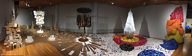 This was an installation at the Fitton Center for Creative Arts in Hamilton Ohio.