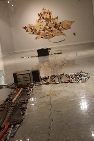 installation, sculpture, tools