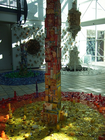environmental recycled sculpture