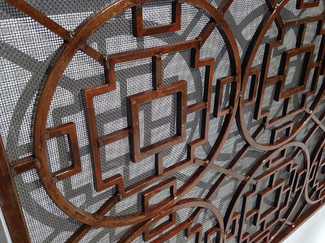 Rust Firescreen detail