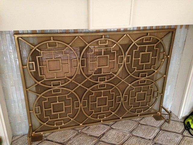Dana's Firescreen with gold finish