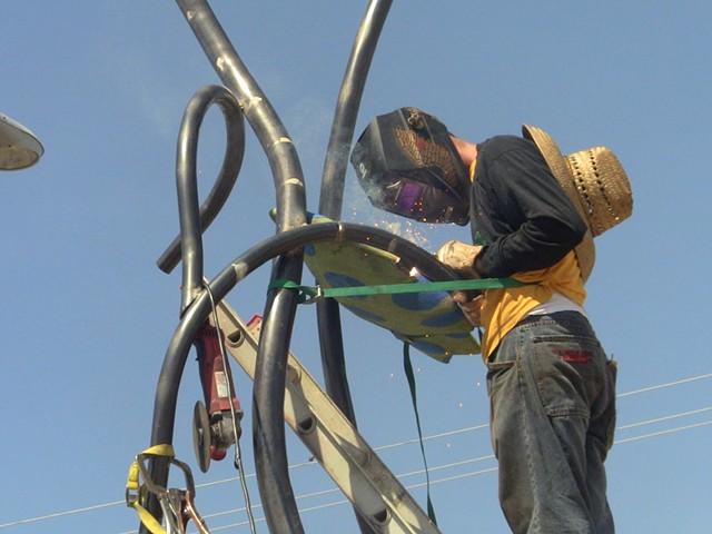 Jason welding up high