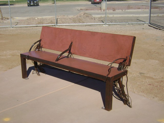 Atturbury bench with back
