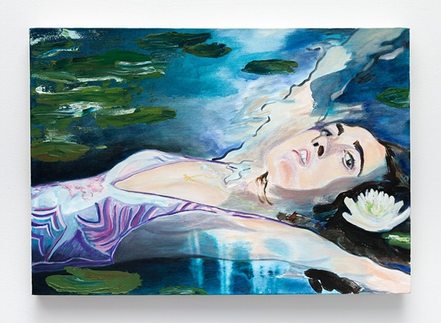 contemporary figure painting, bather painting