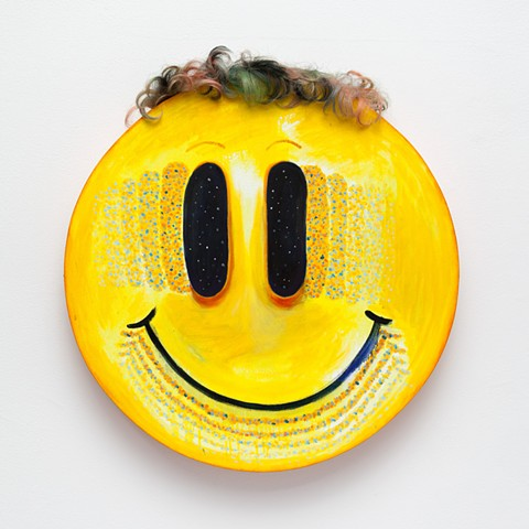 Smiley face, painting, mel cook