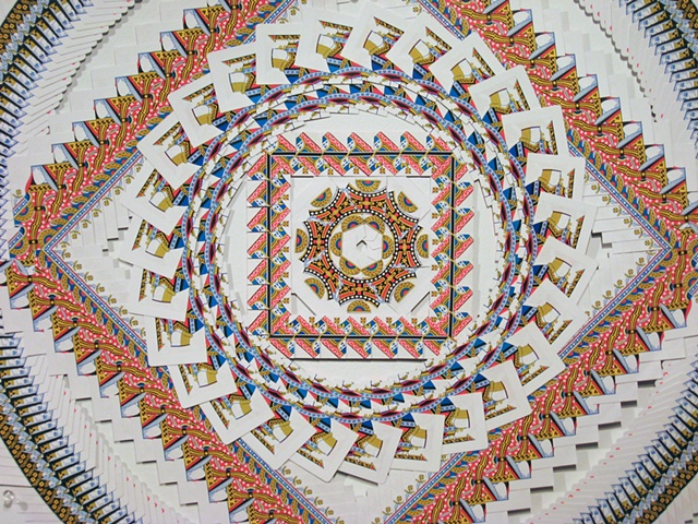 Playing Card Mandala (detail)