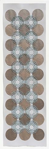 Brown/Blue Dots 9x3 row