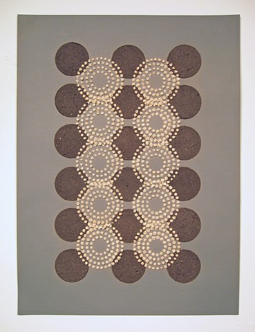 Untitled (tan circles/black dots)