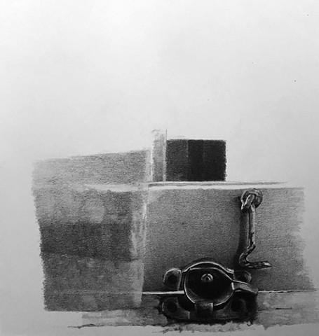 drawing, lock, hinge, lyman, window, point of view