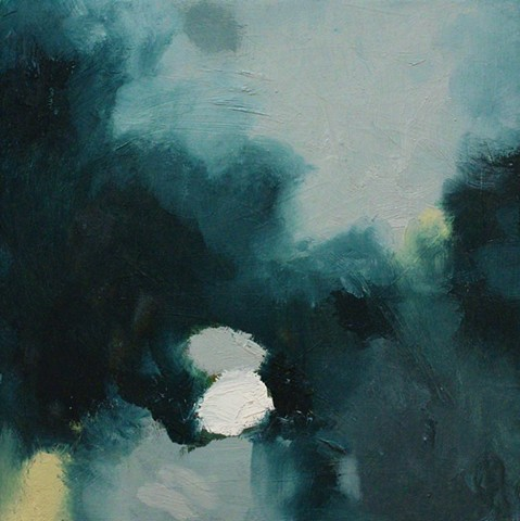 small abstract landscape painting
