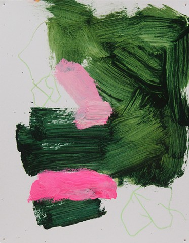 Abstract Study Green/Pink V
