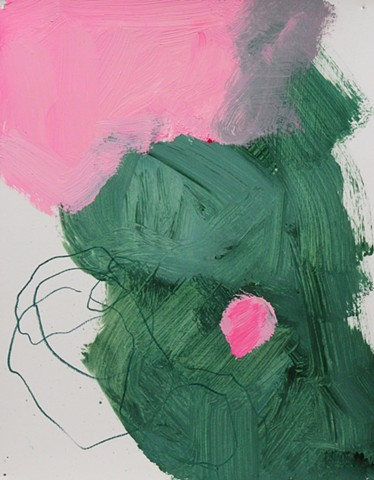 Abstract Study Green/Pink II